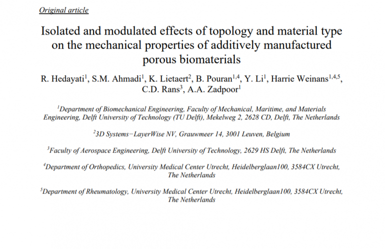 Isolated and modulated effects of topology and material type on the mechanical properties of additively manufactured  porous biomaterials