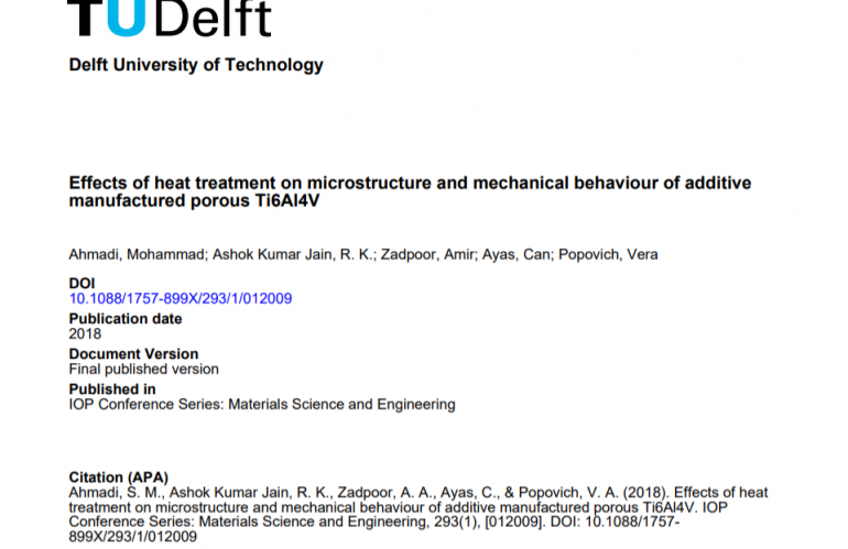 Effects of heat treatment on microstructure and mechanical behaviour of additive manufactured porous Ti6Al4V