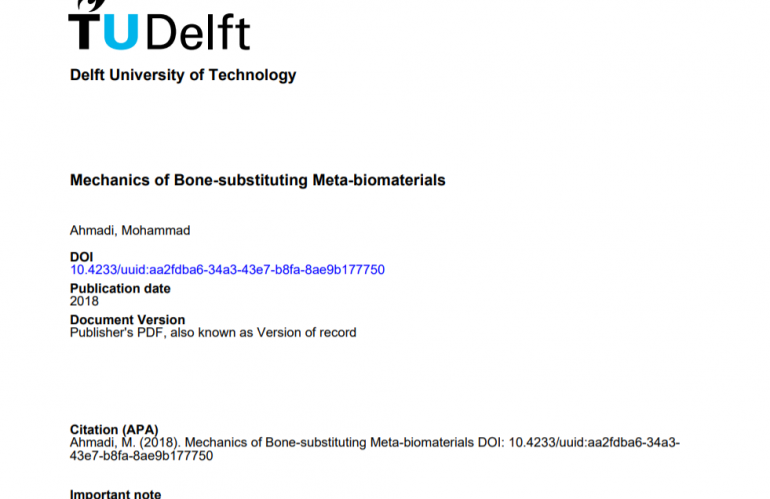 Mechanics of Bone-substituting Meta-biomaterials