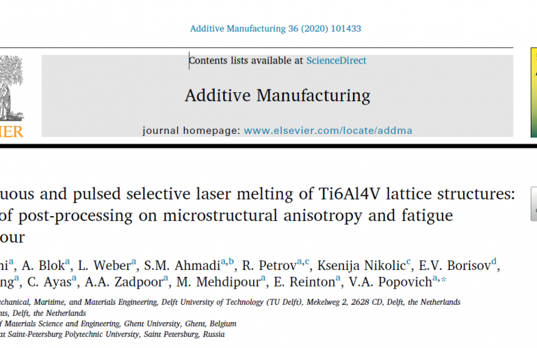 Continuous and pulsed selective laser melting of Ti6Al4V lattice structures: Effect of post-processing on microstructural anisotropy and fatigue behavior